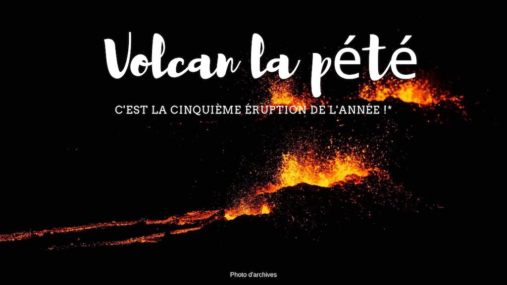 Le Piton de la Fournaise en éruption pour la 5e fois de l'année !